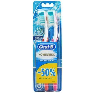 Зубная щетка Oral-B Complete Clean средняя 1 шт + 1 шт бесплатно Фото