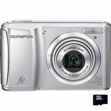 Цифровой фотоаппарат OLYMPUS FE-47 silver Фото 1