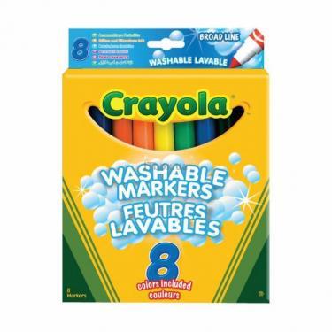 Набор для творчества Crayola 8 смываемых широких фломастеров Фото