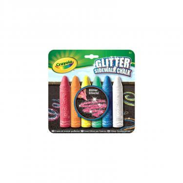 Набор для творчества Crayola Мел для рисования на асфальте с блестящиим эффекто Фото