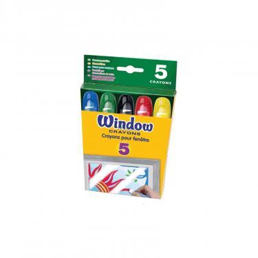 Набор для творчества Crayola 5 восковых мелков для рисования на стекле Фото 2