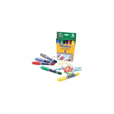 Набор для творчества Crayola 5 восковых мелков для рисования на стекле Фото 1