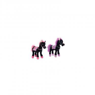 Мягкая игрушка Lava Лошадь чёрная с попоной (муз., 25 см) Фото