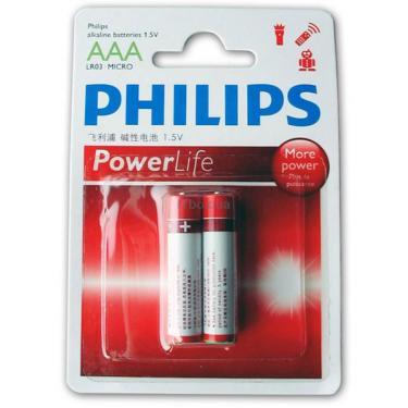 Батарейка PHILIPS LR03 PHILIPS PowerLife P2B * 2 Фото